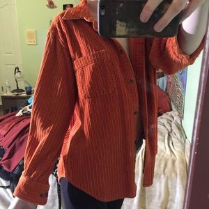 Orange corduroy jacket